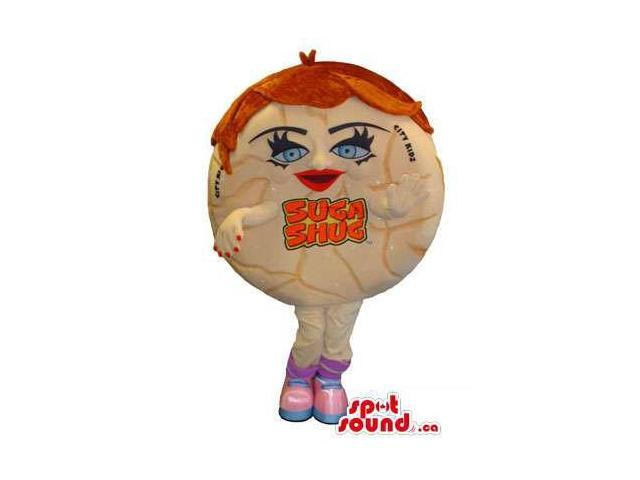 Candy Girl Food Canadian SpotSound Mascot With Space For Logo Or Brand Name