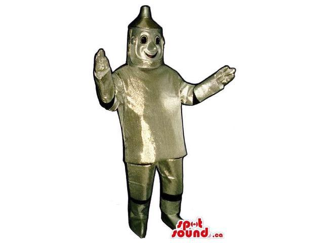 Great Metallic Silver Tin Man It Wizard Of Oz Character Canadian SpotSound Mascot
