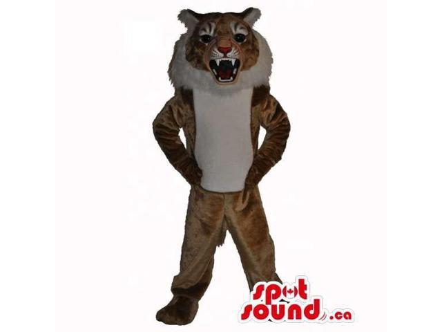 Brown Lion Animal Plush Canadian SpotSound Mascot With A White Belly