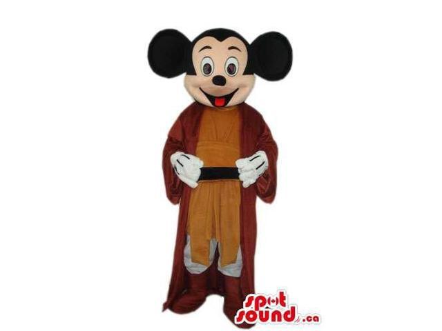 Mickey Mouse Disney Character With Medieval Brown Clothes