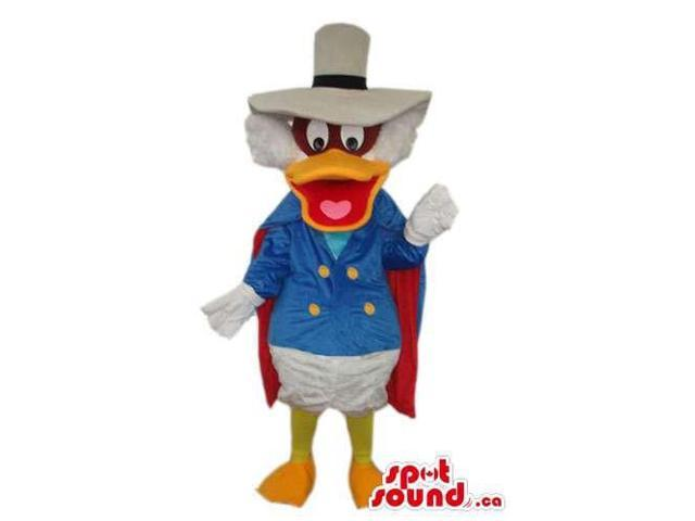 Dark Wing Duck Disney Character Canadian SpotSound Mascot With Special Clothes