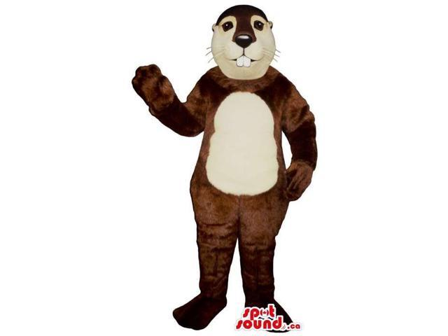 Customised Brown Chipmunk Plush Canadian SpotSound Mascot With A Round Belly