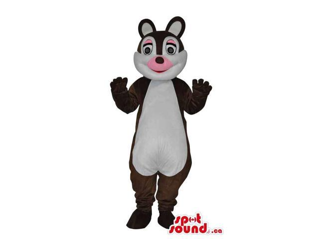 Customised Brown Chipmunk Plush Canadian SpotSound Mascot With Pink Nose