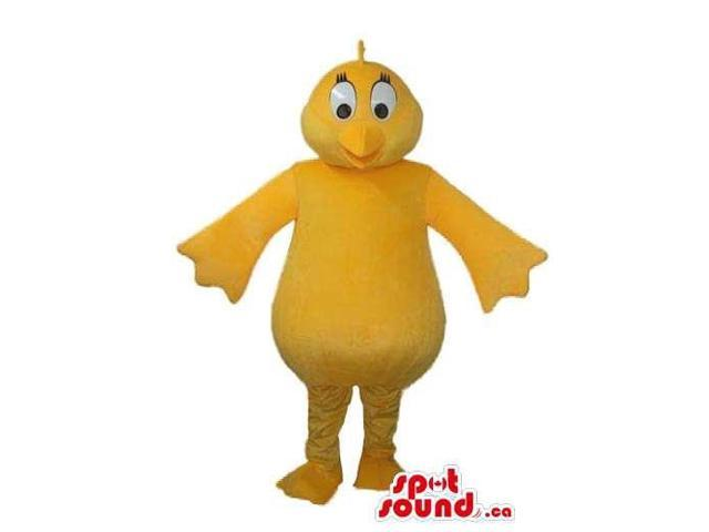 Peculiar All Yellow Bathtub Rubber Duckling Plush Canadian SpotSound Mascot
