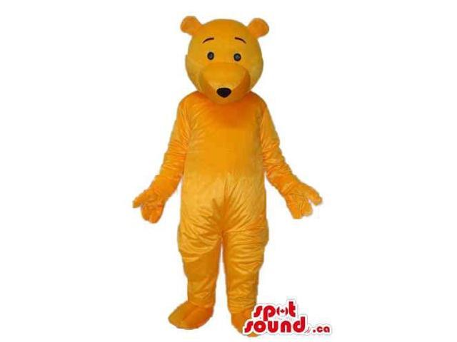 Cute All Orange Winnie The Pooh All Cartoon Character Canadian SpotSound Mascot