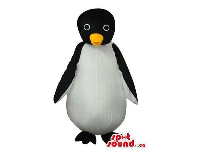 Young Penguin Animal Plush Canadian SpotSound Mascot With A Round Body