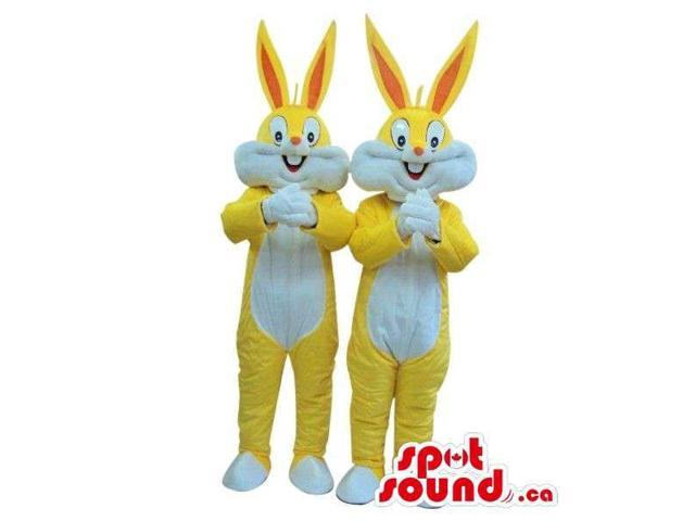 Bugs Bunny Alike Cartoon Character Canadian SpotSound Mascots In Yellow