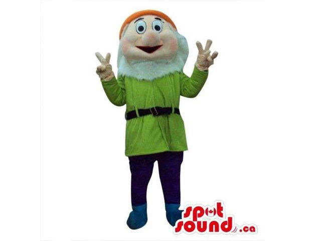 Snow White And The Seven Dwarfs Canadian SpotSound Mascot In Green Gear