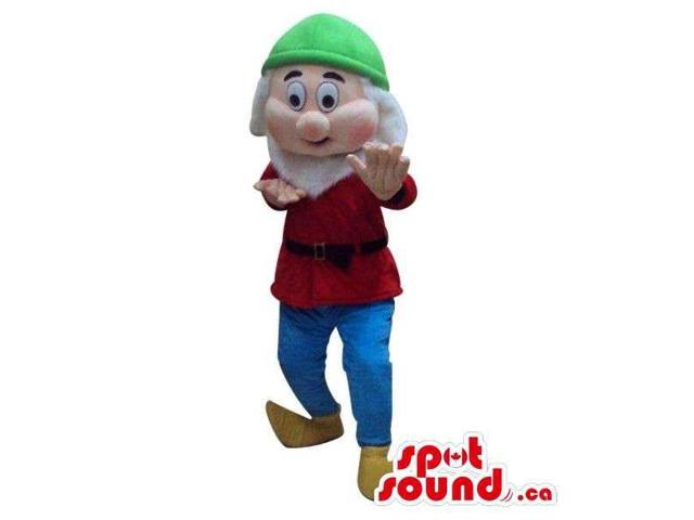 Snow White And The Seven Dwarfs Canadian SpotSound Mascot In Red And Green Gear
