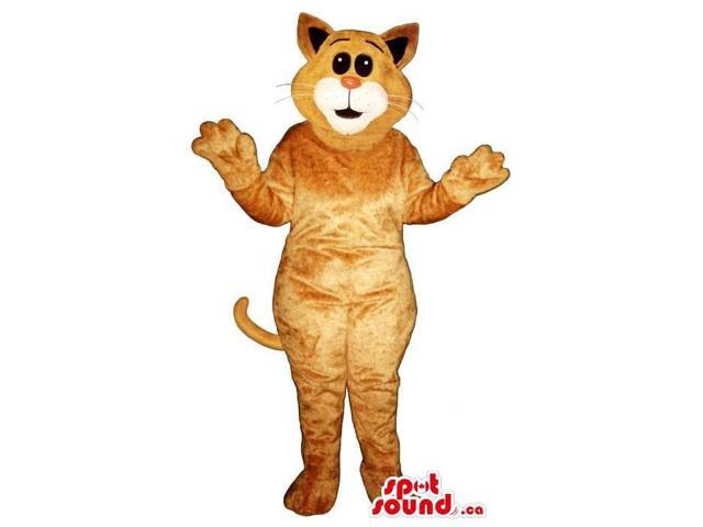 Customised All Brown Cat Plush Canadian SpotSound Mascot With A White Mouth