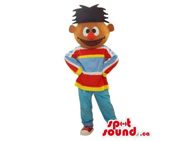 Well-Known Sesame Street Character Canadian SpotSound Mascot In A Striped Customised Top