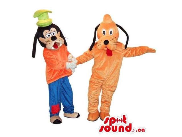 Well-Known Disney Cartoon Character Canadian SpotSound Mascots: Pluto And Goofy