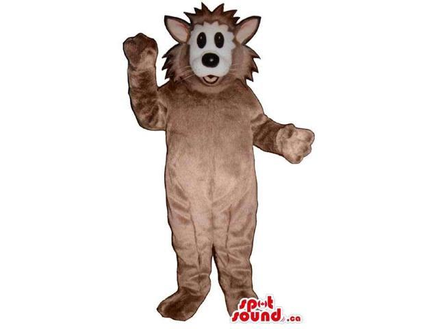 Customised Brown Cat Plush Canadian SpotSound Mascot With Spiky Hair