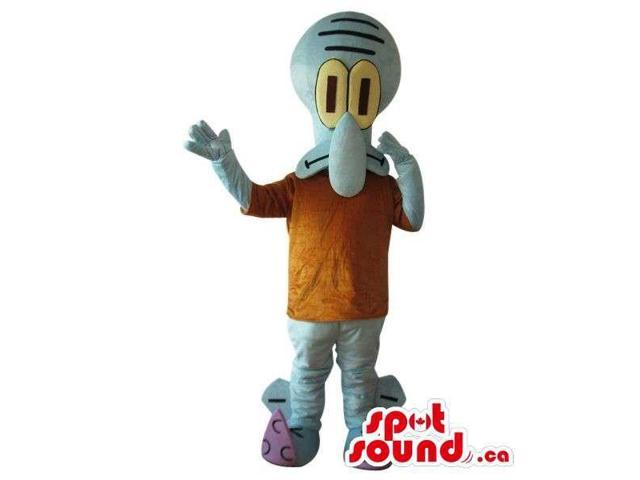 Cute Blue Alien Cartoon Character Plush Canadian SpotSound Mascot With A Brown Body
