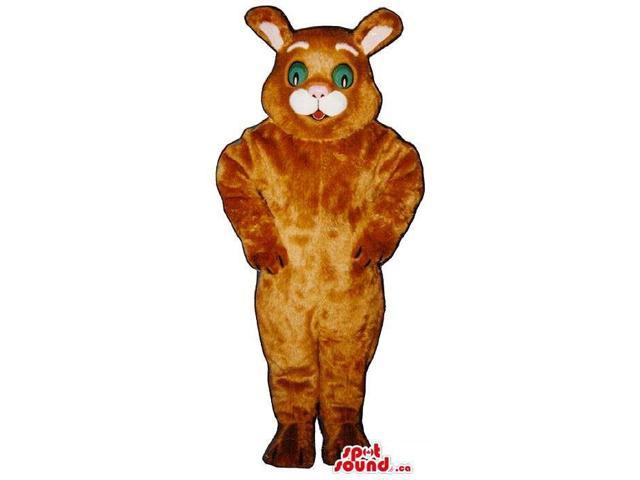 Customised Brown Cat Plush Canadian SpotSound Mascot With Green Eyes