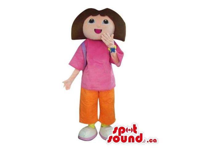 Well-Known Dora The Explorer Cartoon Character Canadian SpotSound Mascot