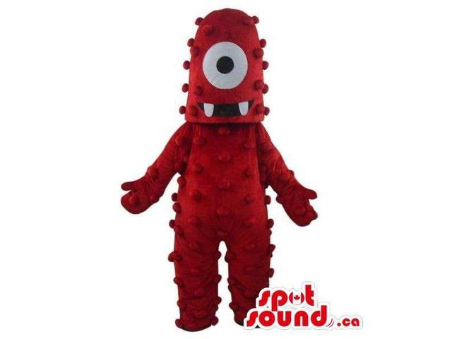 Muno Yo Gabba Gabba Character Red One-Eyed Monster Canadian SpotSound Mascot