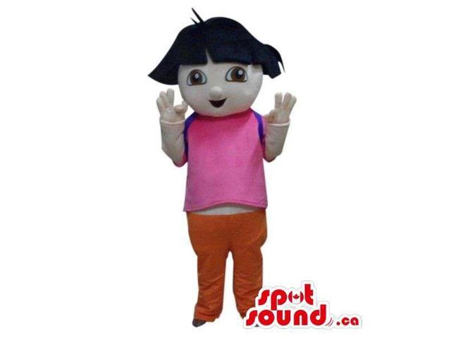 Well-Known Dora The Explorer Cartoon Character Canadian SpotSound Mascot