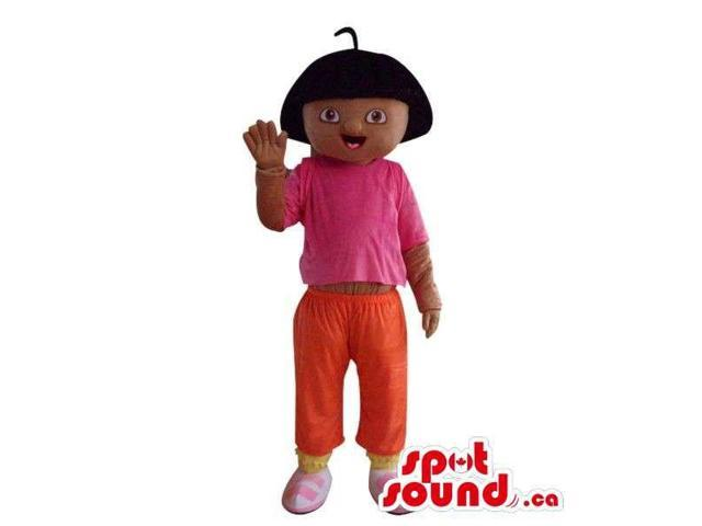 Dark Well-Known Dora The Explorer Cartoon Character Canadian SpotSound Mascot