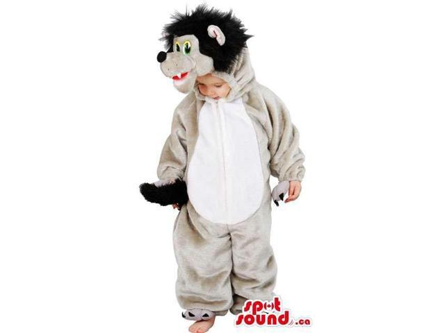 Cute Children'S Woolly Bear Costume With White Belly