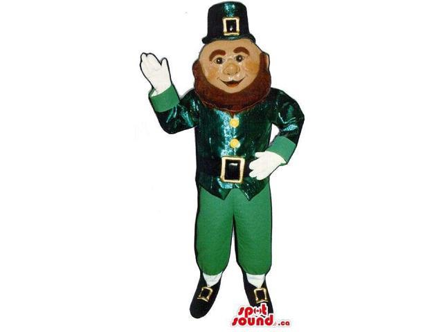 Shinny Leprechaun Irish Character Canadian SpotSound Mascot For St. Patrick'S Day