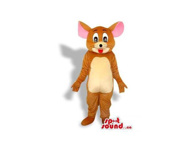 Tom And Jerry Cartoon Character Plush Canadian SpotSound Mascot With Pink Ears