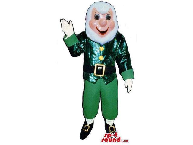 Leprechaun Irish Character Canadian SpotSound Mascot With White Beard