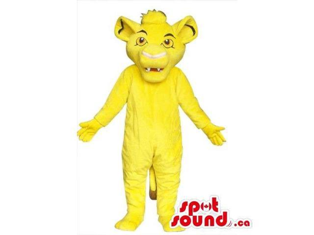 Well-Known Flashy Yellow Lion King Movie Character Canadian SpotSound Mascot