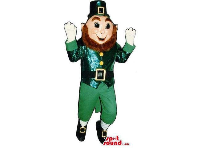 Leprechaun Irish Character Canadian SpotSound Mascot With Brown Beard