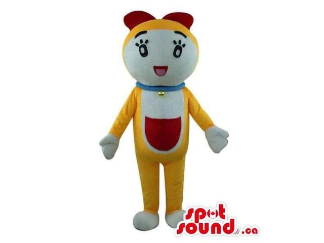 Well-Known Doraemon Cartoon Character Yellow Cat Plush Canadian SpotSound Mascot