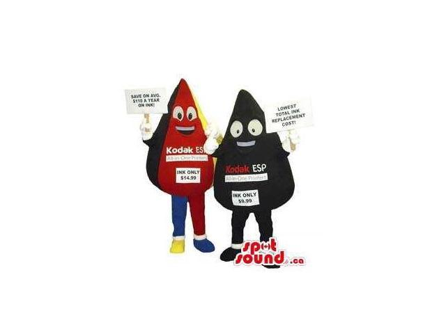 Kodak Movie Color And Black Drops Plush Canadian SpotSound Mascots With Logos