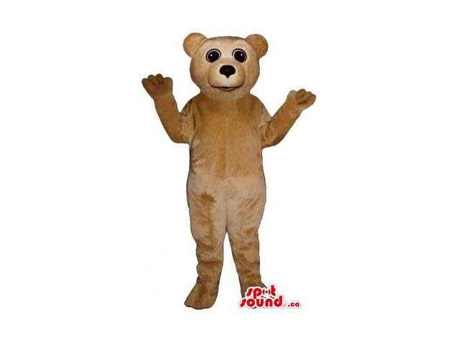 Light Brown Teddy Bear Forest Plush Canadian SpotSound Mascot With Black Eyes