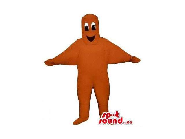 Customised Original Orange Star Fish Sea Character Canadian SpotSound Mascot