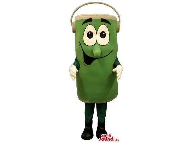 Customised Peculiar Cartoon Green Can Plush Canadian SpotSound Mascot