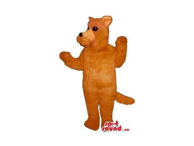 Customised All Orange Dog Pet Friend Animal Plush Canadian SpotSound Mascot