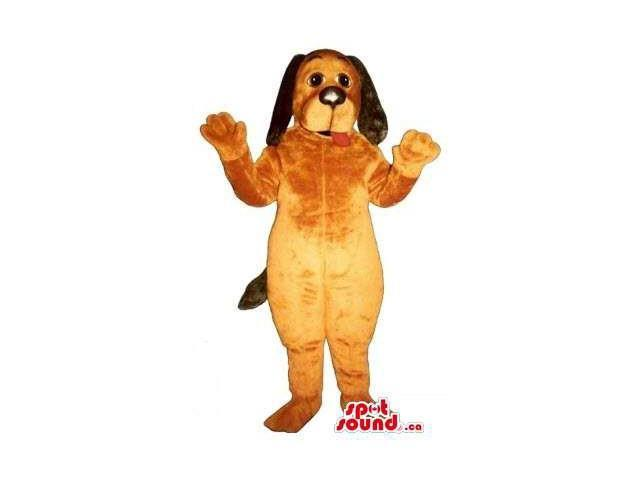 Brown Dog Pet Friend Animal Plush Canadian SpotSound Mascot With Long Ears