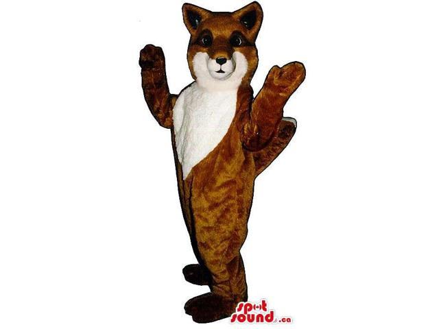 Customised Brown Fox Plush Canadian SpotSound Mascot With A White Face And Belly