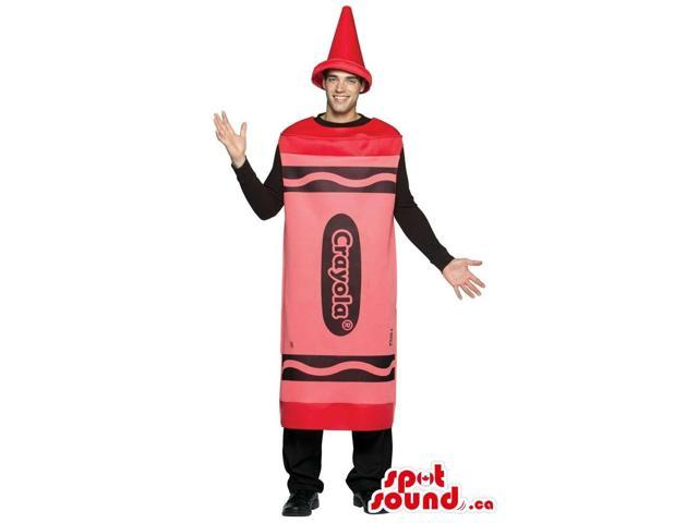 Cool Red Crayola Brand Name Crayon Adult Size Costume