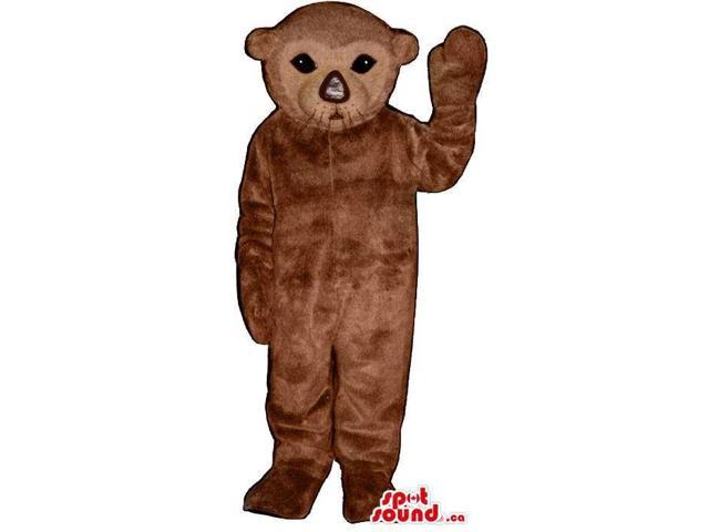 Brown Young Seal Plush Canadian SpotSound Mascot With A Cute Face And Nose