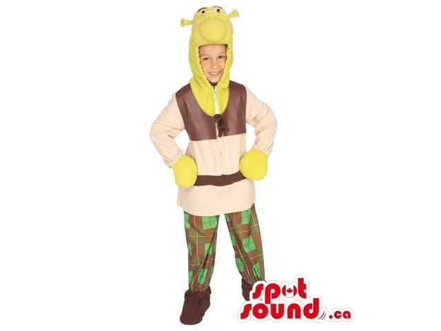 Very Original Shrek Movie Character Plush Children Size Costume