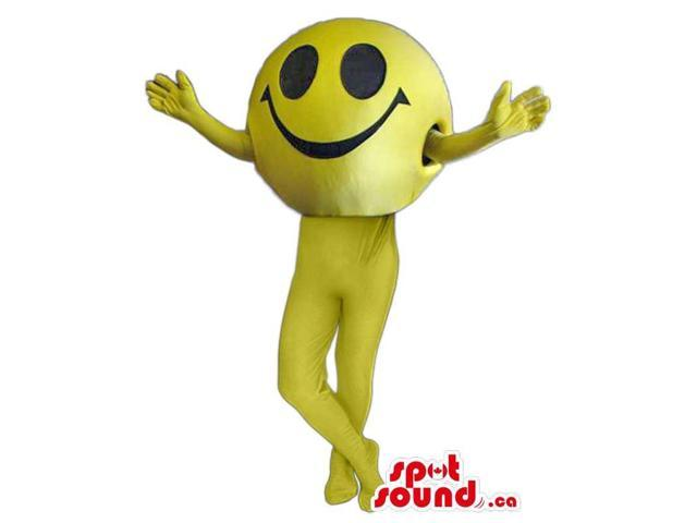 Customised Cool All Yellow Smiley Icon Tall Canadian SpotSound Mascot