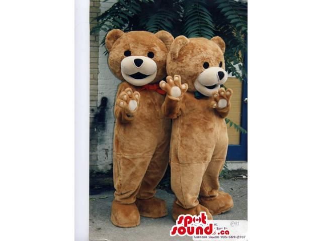 Customised Brown Teddy Bear Toy Plush Canadian SpotSound Mascots