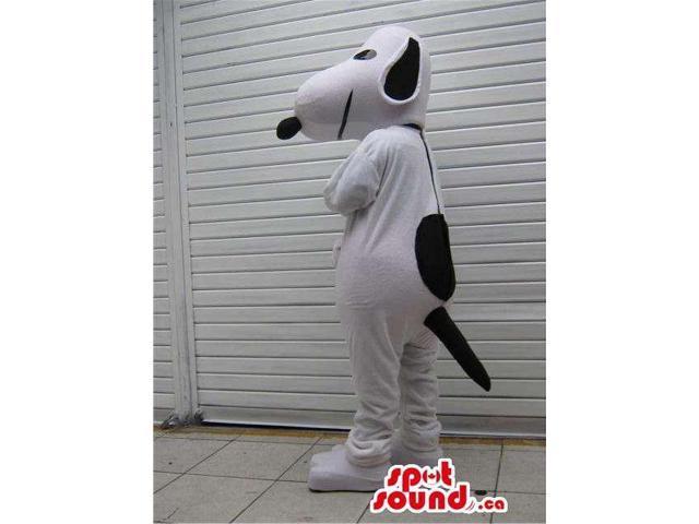 White And Black Dog Plush Canadian SpotSound Mascot Alike Snoopy Cartoon Character