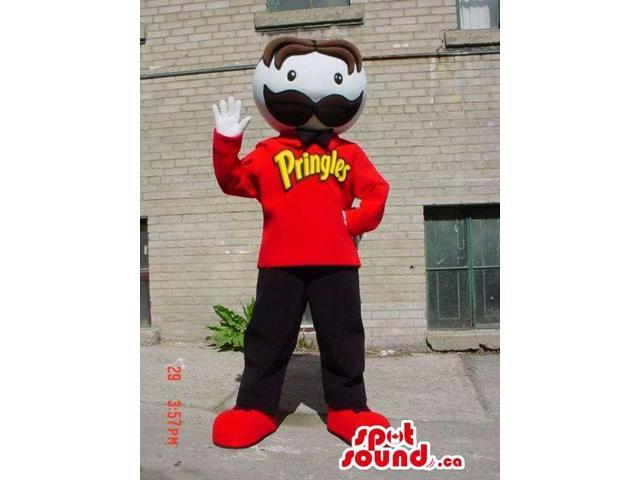 Well-Known Pringles Snack Food Canadian SpotSound Mascot With A Moustache And Customised Top