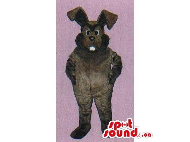 Customised All Dark Brown Rabbit Animal Canadian SpotSound Mascot