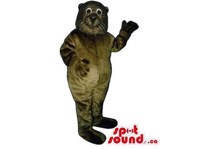 Customised All Dark Brown Seal Water Animal Canadian SpotSound Mascot