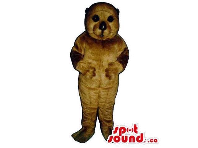 Customised Cute Dark Brown Seal Water Animal Canadian SpotSound Mascot