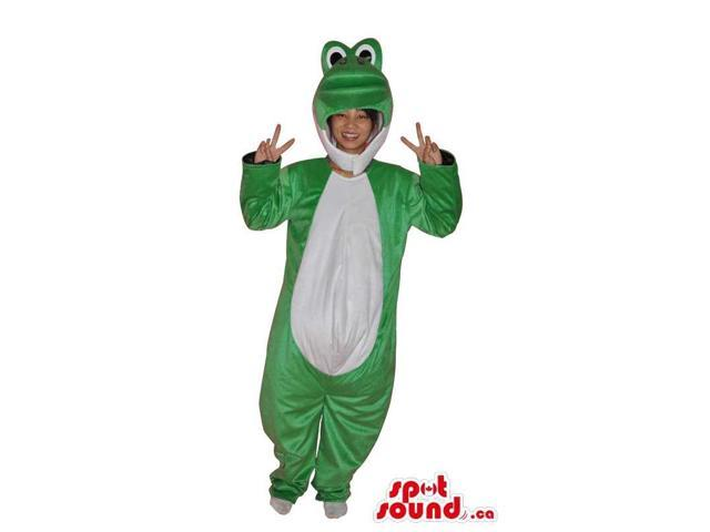 Green And White Frog Adult Size Costume Disguise
