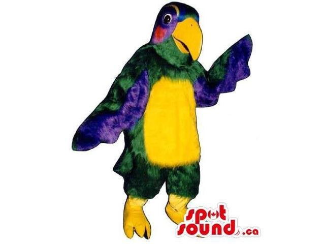 Customised Colourful Parrot Bird Canadian SpotSound Mascot With A Yellow Belly