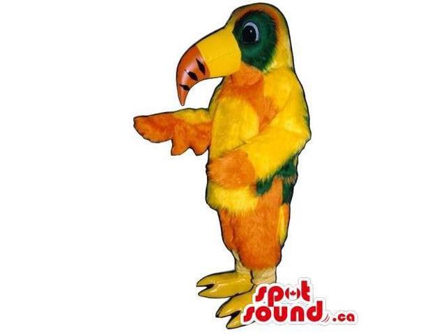 Customised Colourful Orange And Yellow Toucan Bird Canadian SpotSound Mascot